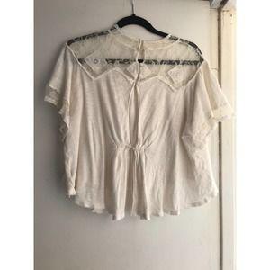 Free People White Blouse Size M